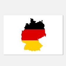 German Flag (shape) Postcards (Package of 8)