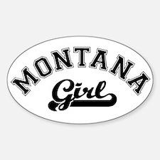 Montana Girl Oval Decal