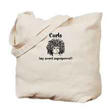 Curly Haired Girl Tote Bag
