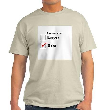 Love or Sex? Ash Grey T-Shirt