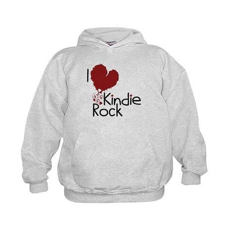 I Love Kindie Rock Kids Hoodie