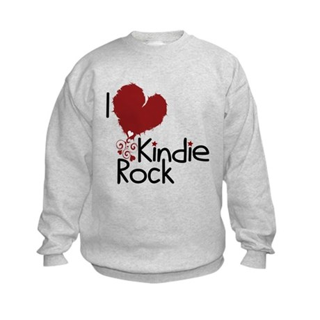 I Love Kindie Rock Kids Sweatshirt