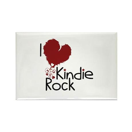 I Love Kindie Rock Rectangle Magnet (10 pack)