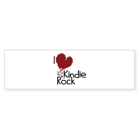 I Love Kindie Rock Sticker (Bumper)