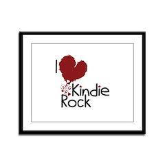 I Love Kindie Rock Framed Panel Print
