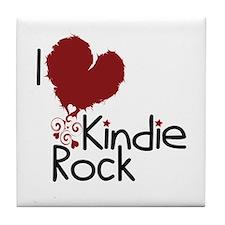 I Love Kindie Rock Tile Coaster