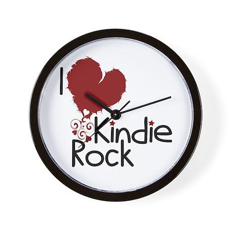 I Love Kindie Rock Wall Clock
