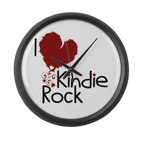 I Love Kindie Rock Large Wall Clock