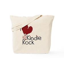 I Love Kindie Rock Tote Bag