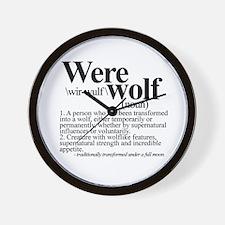 Definition of a werewolf Team Wall Clock