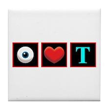 I LOVE TEA Tile Coaster