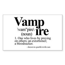Definition of a Vampire Decal