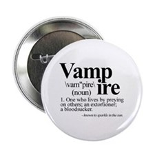 "Definition of a Vampire 2.25"" Button"