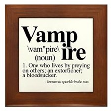 Definition of a Vampire Framed Tile