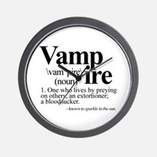 Definition of a Vampire Wall Clock
