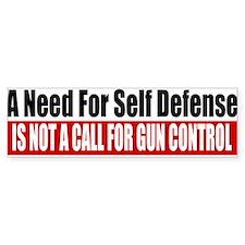 A Need for Self Defense Bumper Sticker