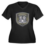 Kalamazoo Police Women's Plus Size V-Neck Dark T-S