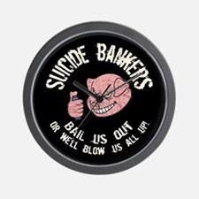 Suicide Bankers Wall Clock