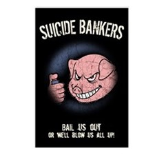 Suicide Bankers Postcards (Package of 8)