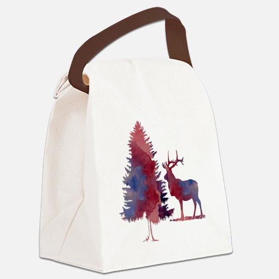 Cute Winter Canvas Lunch Bag