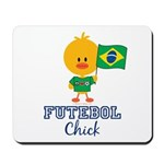 Brazil Soccer Futebol Chick Mousepad