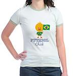 Brazil Soccer Futebol Chick Jr. Ringer T-Shirt