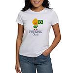 Brazil Soccer Futebol Chick Women's T-Shirt