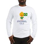 Brazil Soccer Futebol Chick Long Sleeve T-Shirt