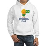 Brazil Soccer Futebol Chick Hooded Sweatshirt
