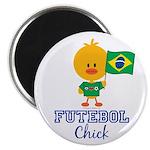 Brazil Soccer Futebol Chick Magnet