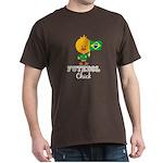 Brazil Soccer Futebol Chick Dark T-Shirt