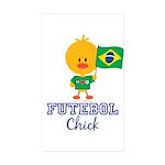 Brazil Soccer Futebol Chick Sticker (Rectangle 10