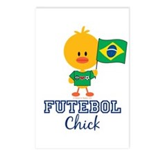 Brazil Soccer Futebol Chick Postcards (Package of