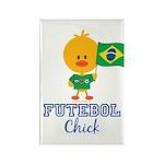Brazil Soccer Futebol Chick Rectangle Magnet (100