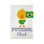 Brazil Soccer Futebol Chick Rectangle Magnet (10 p