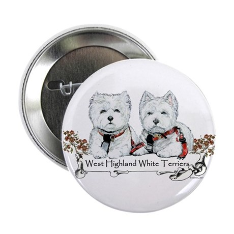 West Highland White Terriers Button