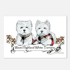 West Highland White Terriers Postcards (Package of