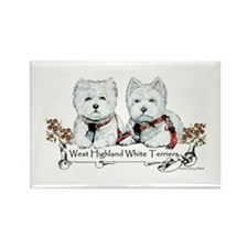 West Highland White Terriers Rectangle Magnet