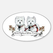 West Highland White Terriers Oval Decal