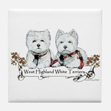 West Highland White Terriers Tile Coaster