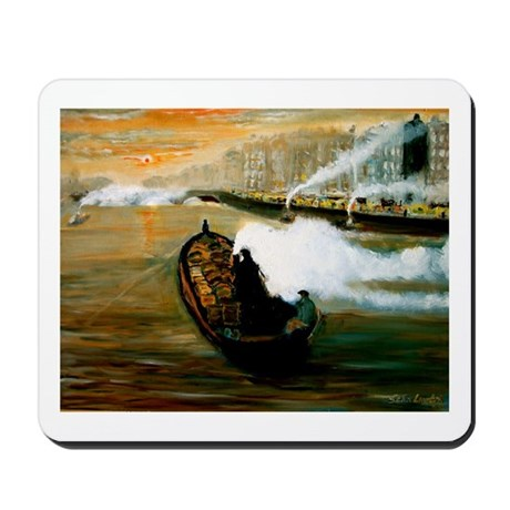 Liffey Barge Mousepad