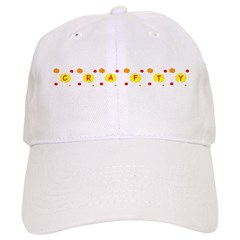 Crafty Crafter Flowers Silhouette Baseball Cap Hat