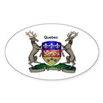 Quebec Family Shield Sticker (Oval 10 pk)
