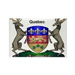 Quebec Family Shield Rectangle Magnet (100 pack)