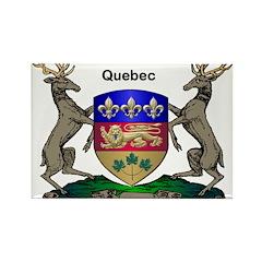Quebec Family Shield Rectangle Magnet (10 pack)
