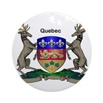Quebec Family Shield Ornament (Round)