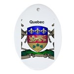 Quebec Family Shield Ornament (Oval)