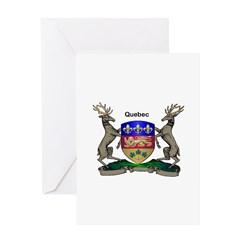 Quebec Family Shield Greeting Card