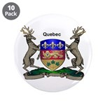 "Quebec Family Shield 3.5"" Button (10 pack)"