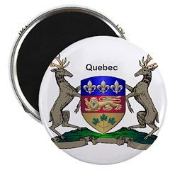 "Quebec Family Shield 2.25"" Magnet (100 pack)"